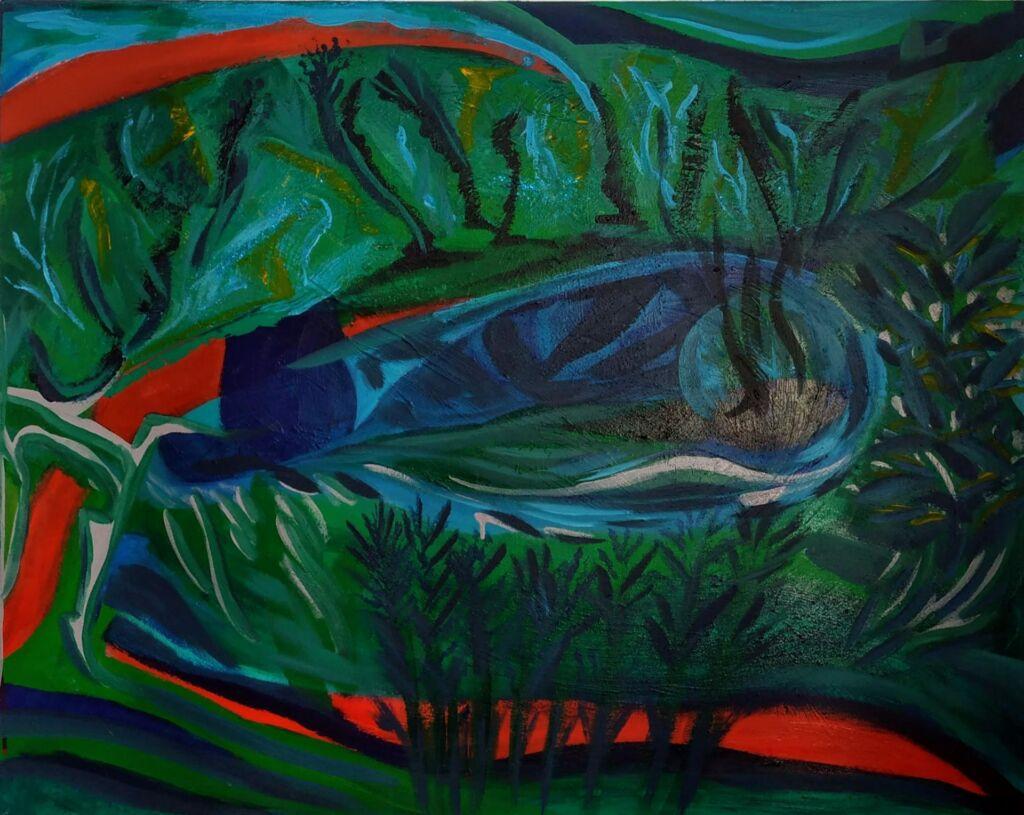 An island . Acrylic. 100 x 81 - 2020
